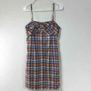ELLAVIE PLAID SLEEVELESS DRESS